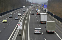 Staus auf der Autobahn angekündigt