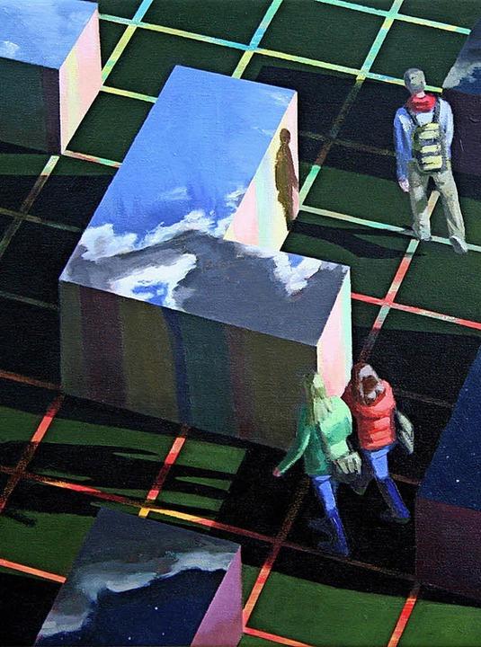 Während sich der Maler Klaus Fischer m...holende Elemente verbinden ihre Werke.  | Foto: Fotos: VG Bild-Kunst/Rolf Kurz