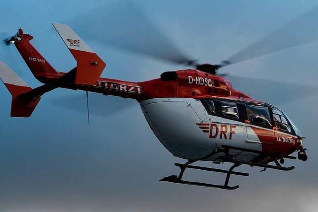 Motorschlittenunfall am Feldberg: Zwei Männer schwer verletzt
