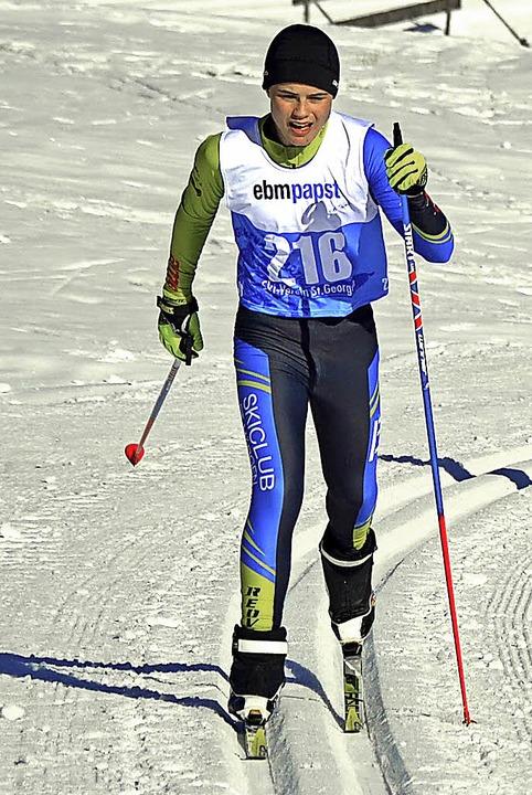 Dominik Löffler vom SC St. Märgen wurd...nd lief im Einzelrennen auf Rang neun.  | Foto: Helmut Junkel