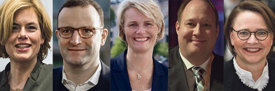 Merkels Ministerliste bildet die gesamte Breite der Partei ab
