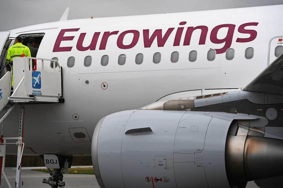 Die Fluggesellschaft Eurowings hat ent...ie Flüge ab dem 23. März einzustellen.  | Foto: dpa