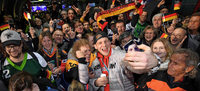 Empfang der Olympia-Mannschaft in Frankfurt