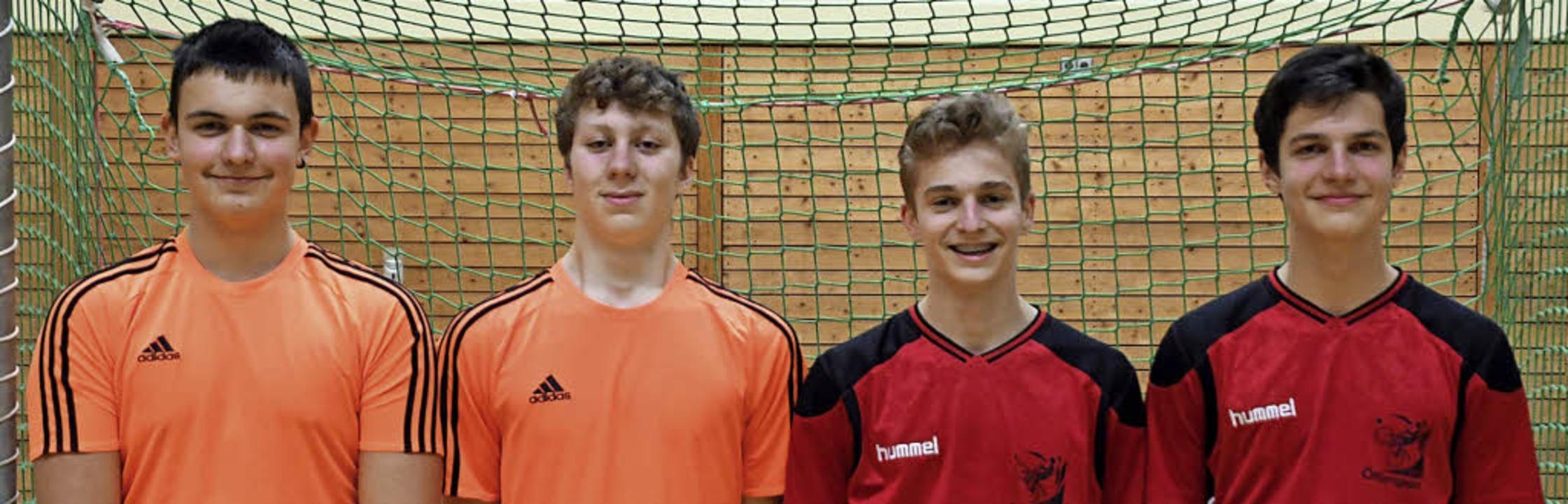 Meisterlich: Noah Klausmann und Luis F...Huber und Moritz Schubach (von links).  | Foto: ZVG