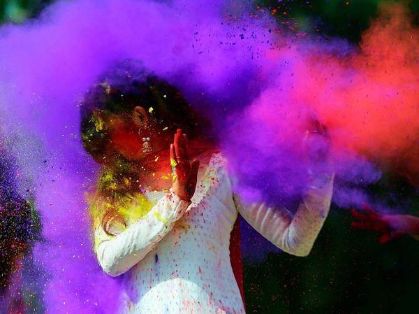 Das indische Frühlingsfest Holi ist ein Fest der Farben.