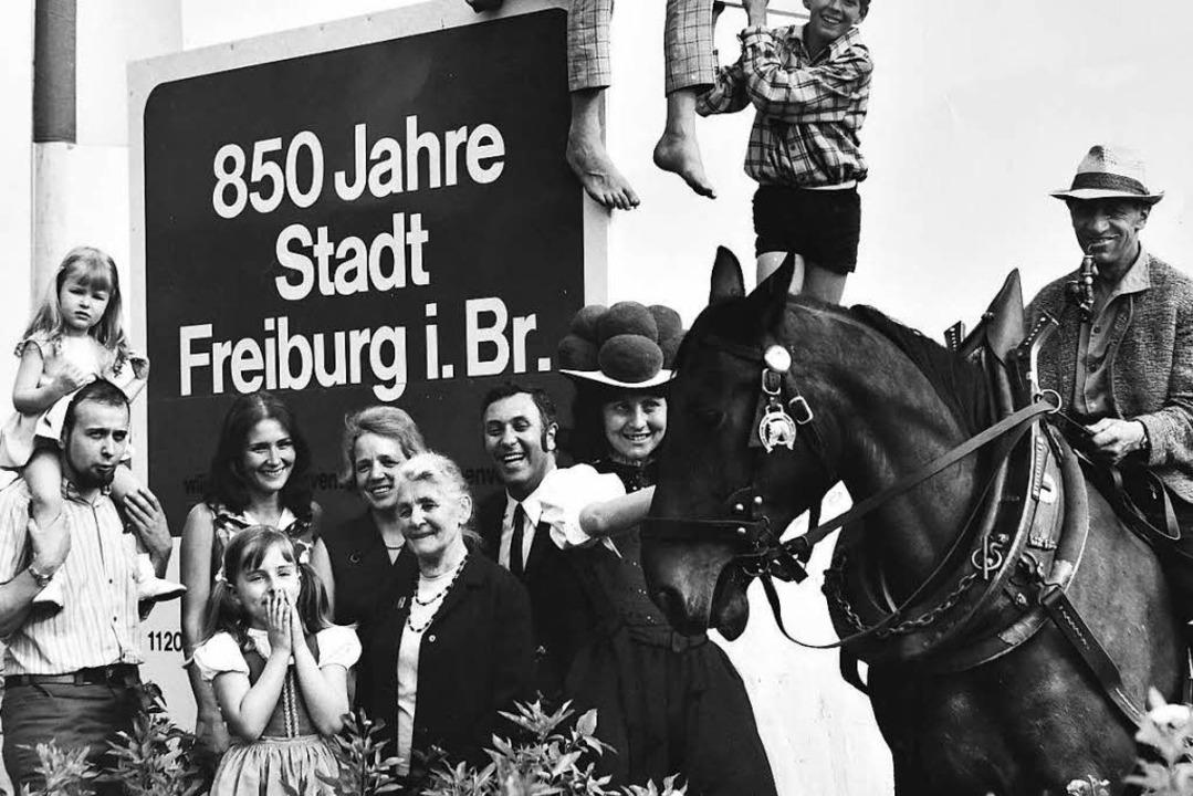 Blick zurück: 1970 feierte Freiburg sein 850-Jahre-Jubiläum.  | Foto: Willy Pragher