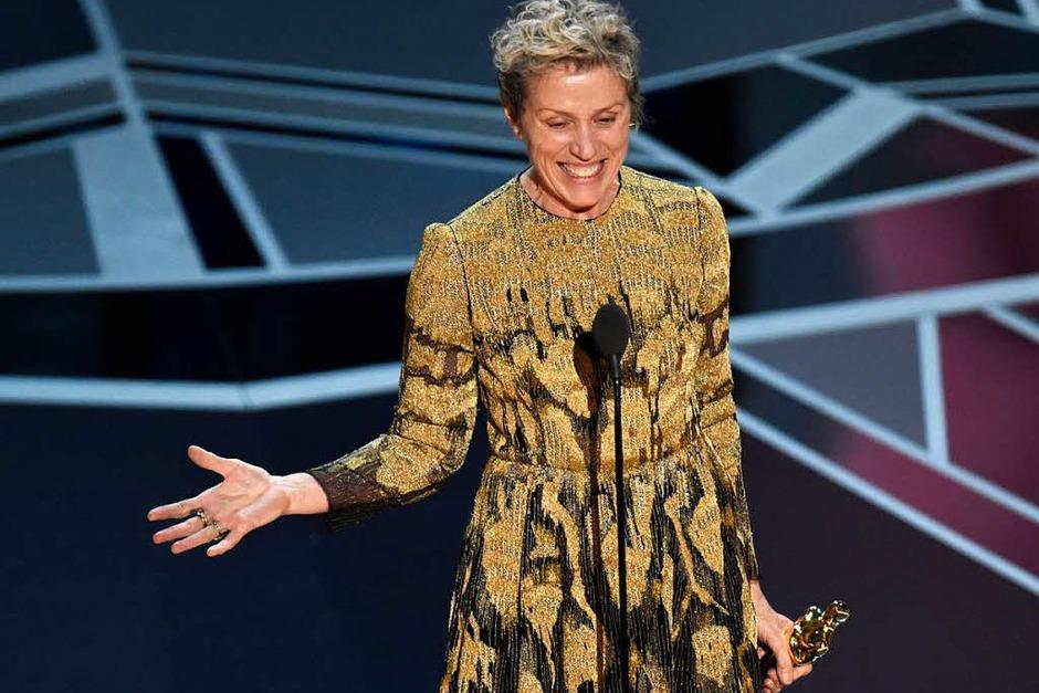 "Hauptdarstellerin: Frances McDormand für ""Three Billboards Outside Ebbing, Missouri"" (Foto: dpa)"