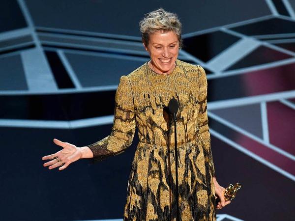 "Hauptdarstellerin: Frances McDormand für ""Three Billboards Outside Ebbing, Missouri"""