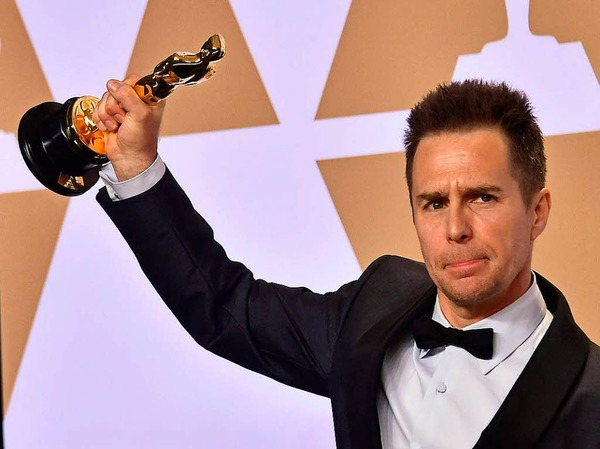 "Nebendarsteller: Sam Rockwell für ""Three Billboards Outside Ebbing, Missouri"""