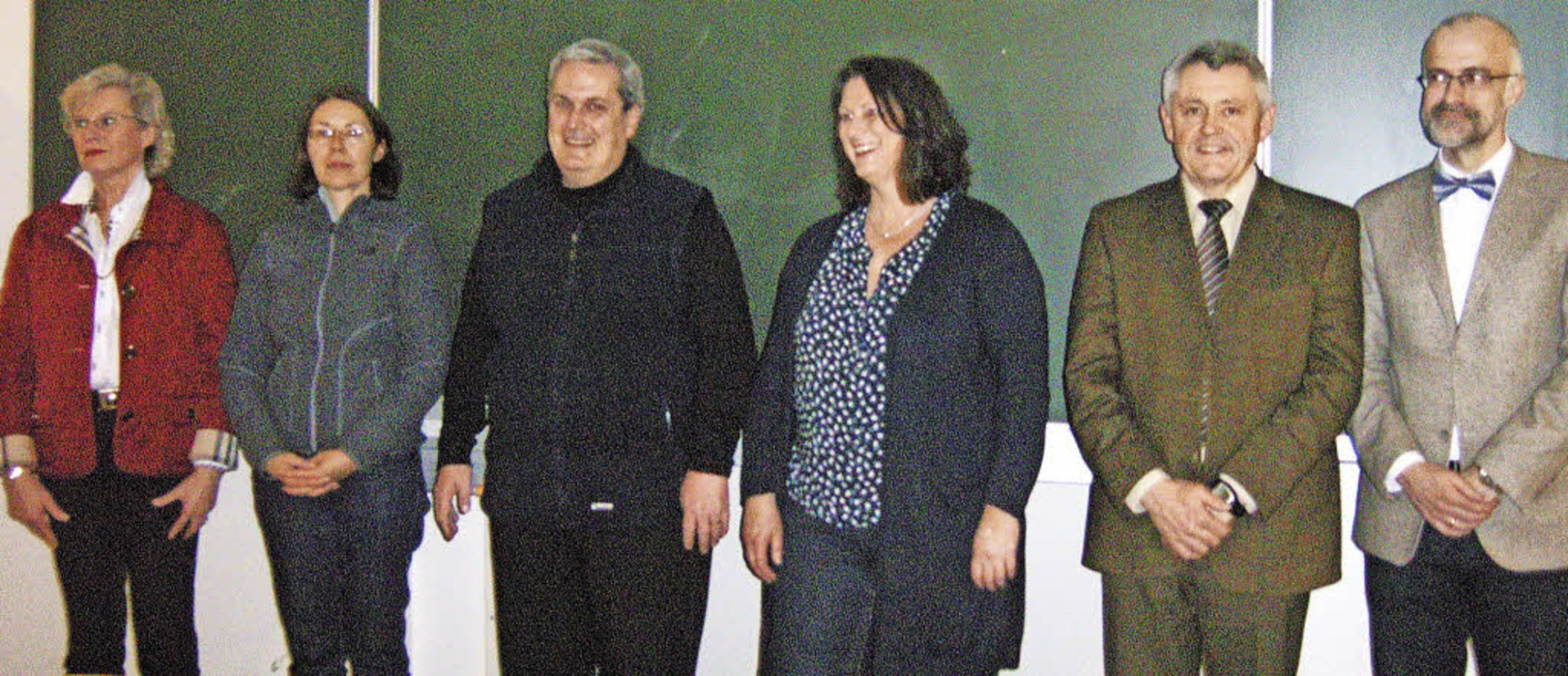 Der neu gewählte Vorstand mit der alte...ssing, Martin Haas und Wolfgang Riedel  | Foto: Chantal Zoelly