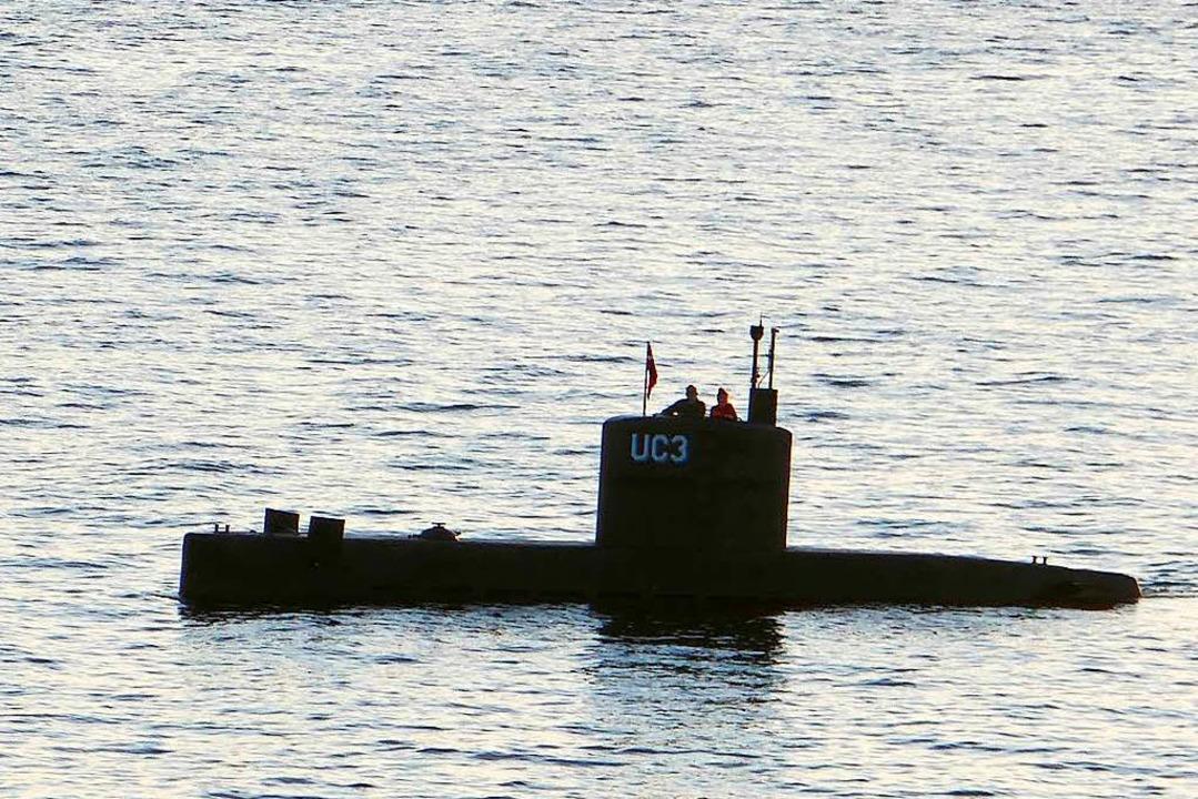 Eines der letzten Fotos der schwedisch...an Bord seines selbstgebauten U-Boots.  | Foto: AFP