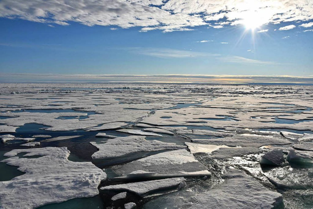 Große Lücken im Eis    Foto: dpa