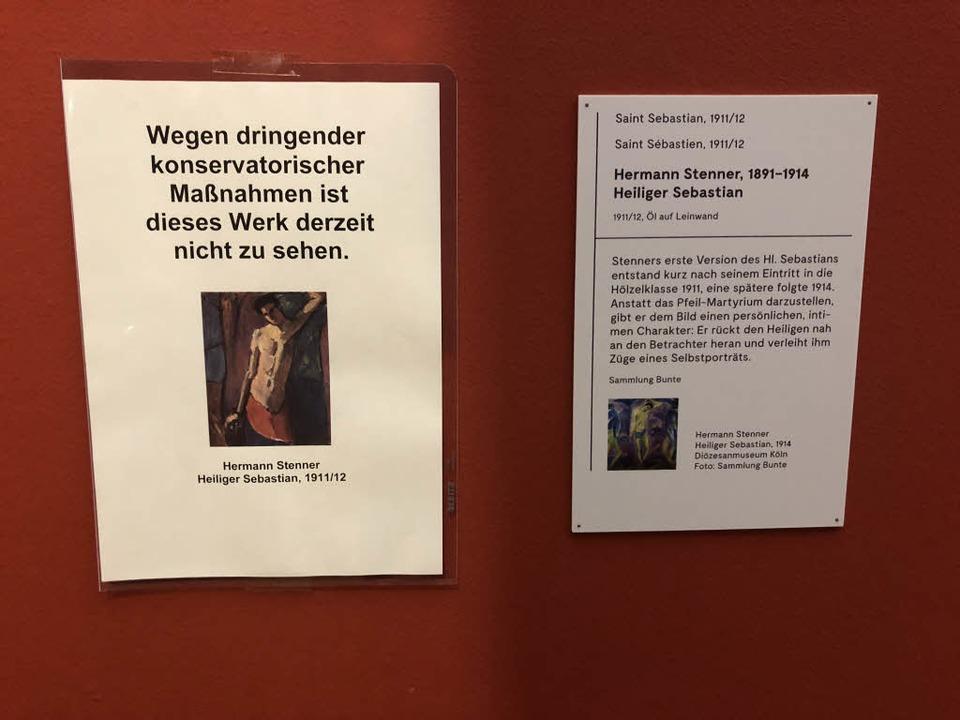 Die Werke wurden zur Restaurierung abgehängt.  | Foto: Joachim Röderer