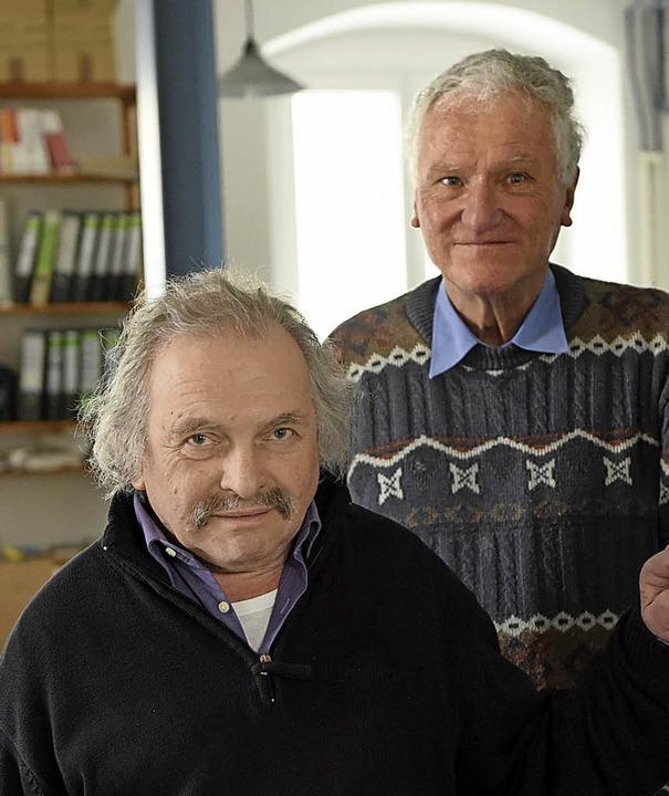 Jimi Merk (vorne) und Christian Neven-du Mont in ihrer Redaktion  | Foto: Rita Eggstein
