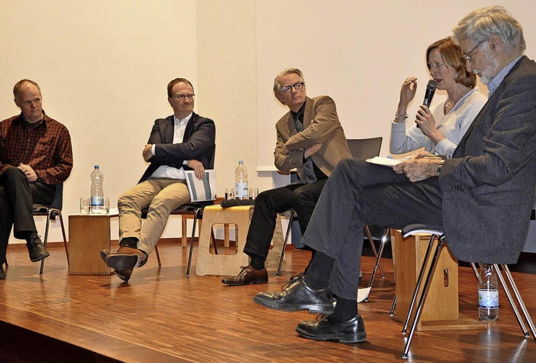 Wie lässt sich der Klimakiller Co2 sto...ndreae und Joachim Nitsch (von links).  | Foto:  rix