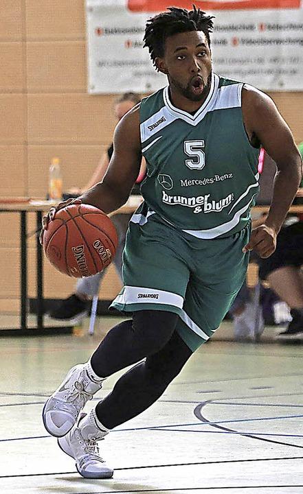 <BZ-FotoAnlauf>Basketball:</BZ-FotoAnlauf> Sechs Dreier: Desmond Strickland  | Foto: Schöchlin