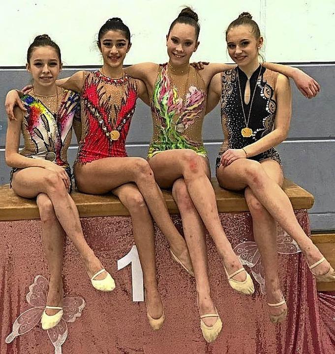 Die erfolgreichsten Lahrer Gymnastinne..., Karolina Tumanova und Lea Hoffmann.   | Foto:  Verein