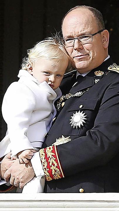 Albert II. mit Sohn Jacques  | Foto: dpa
