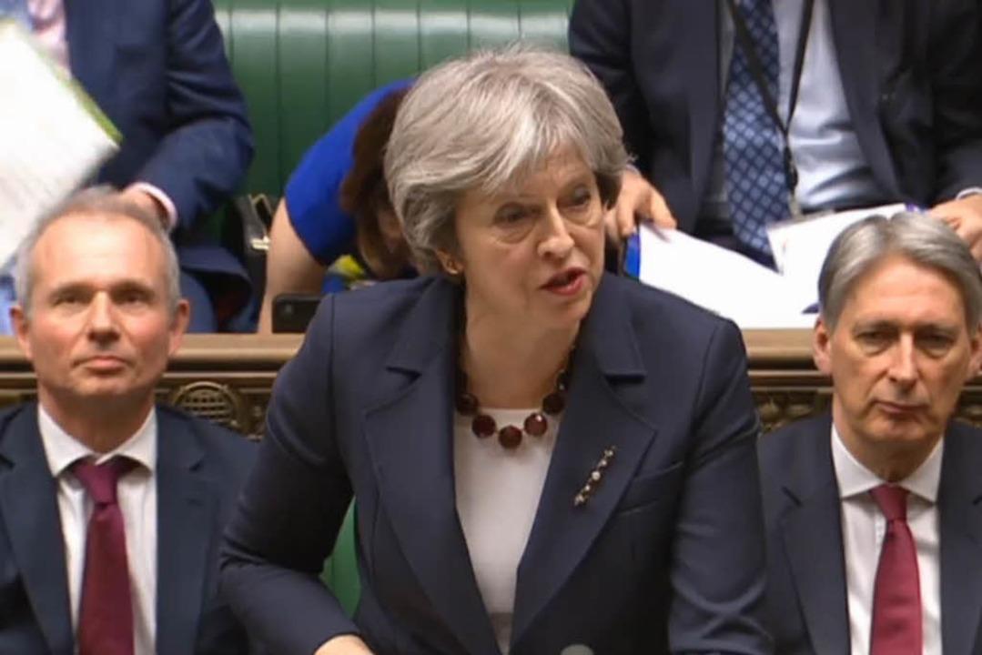 Theresa May kündigt die Ausweisung russischer Diplomaten an.    Foto: dpa