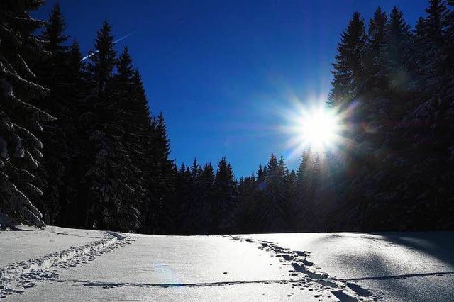 Schnee in Südbaden