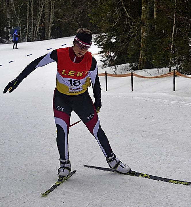 Amelie Wehrle (Hinterzarten) skatete auf den dritten Platz.   | Foto: Helmut Junkel