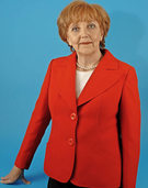 Marianne Schätzle als Merkle-Double in Grafenhausen