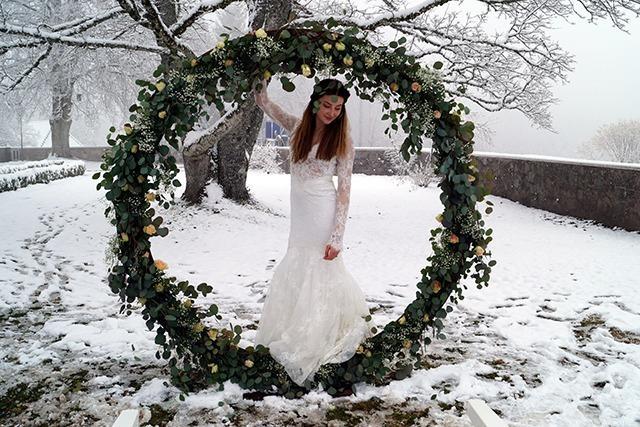 Bräute im Schnee: Schloss Bürgeln zeigt erste Hochzeitsmesse