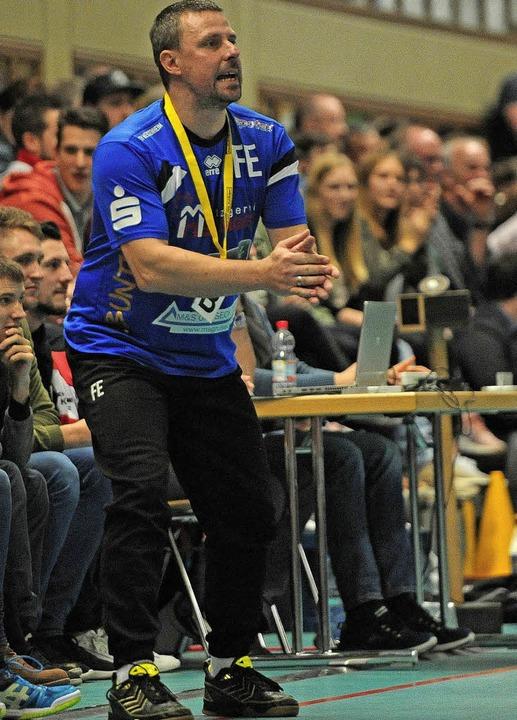 HTV-Coach Frank Ehrhardt erkannte an, ...maßen die Punkte mit nach Hause nahm.   | Foto:  Pressebüro Schaller
