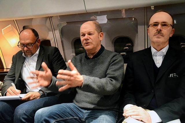 Bundesfinanzminister Scholz trifft sich erstmals mit Kollegen anderer Staaten