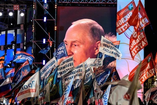 Rekordergebnis für Russlands Präsident Putin