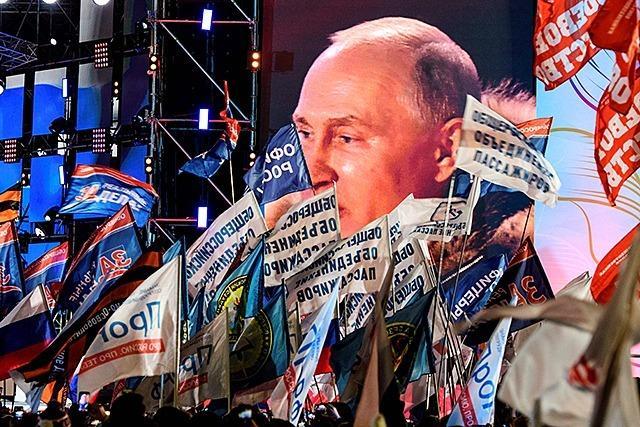 Russlands Präsident Putin mit 76,7 Prozent wiedergewählt