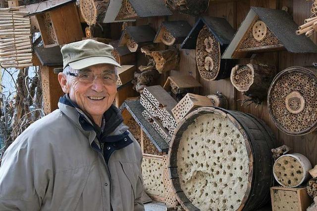 Rainer Sacker baut Insektenhotels – vor allem für Wildbienen