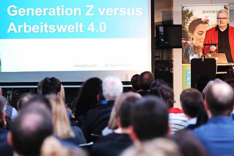 """Sind Unternehmen auf die Generation Z (geboren ab 1990) vorbereitet? Die Krankenkasse Barmer lud gemeinsam mit der Badischen Zeitung zum Unternehmerforum """"Generation Z vs. Arbeitswelt 4.0"""" ins BZ-Museum ein. (Foto: Miroslav Dakov)"""