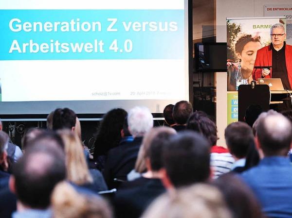 """Sind Unternehmen auf die Generation Z (geboren ab 1990) vorbereitet? Die Krankenkasse Barmer lud gemeinsam mit der Badischen Zeitung zum Unternehmerforum """"Generation Z vs. Arbeitswelt 4.0"""" ins BZ-Museum ein."""
