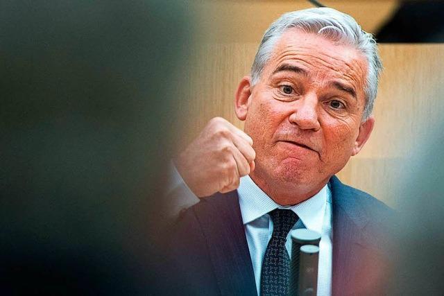 Innenminister Thomas Strobl im Verteidigungsmodus
