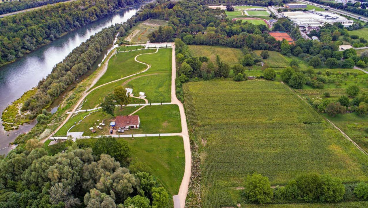 Blick auf das Rheinwärterhaus, das inm...igen Landesgartenschaugeländes liegt.   | Foto: M. Weniger