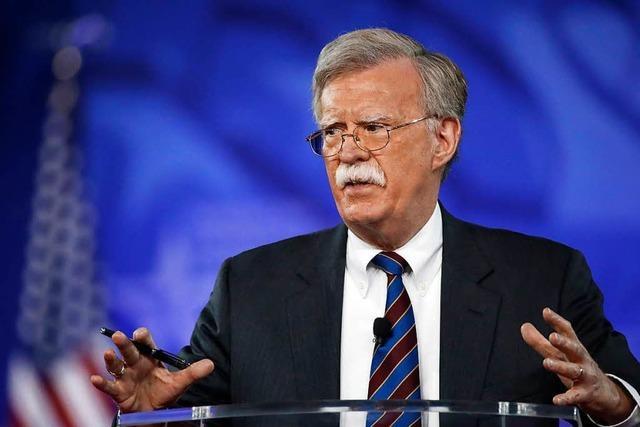 Mit Sicherheitsberater John Bolton rückt das Weiße Haus nach rechts