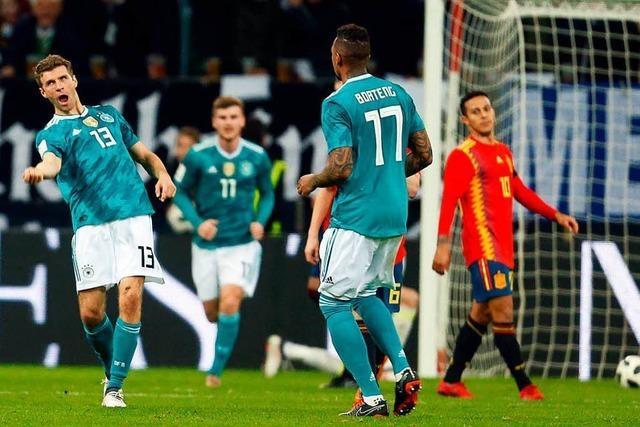 Unentschieden gegen Spanien: Freundschaftsspiel auf hohem Niveau