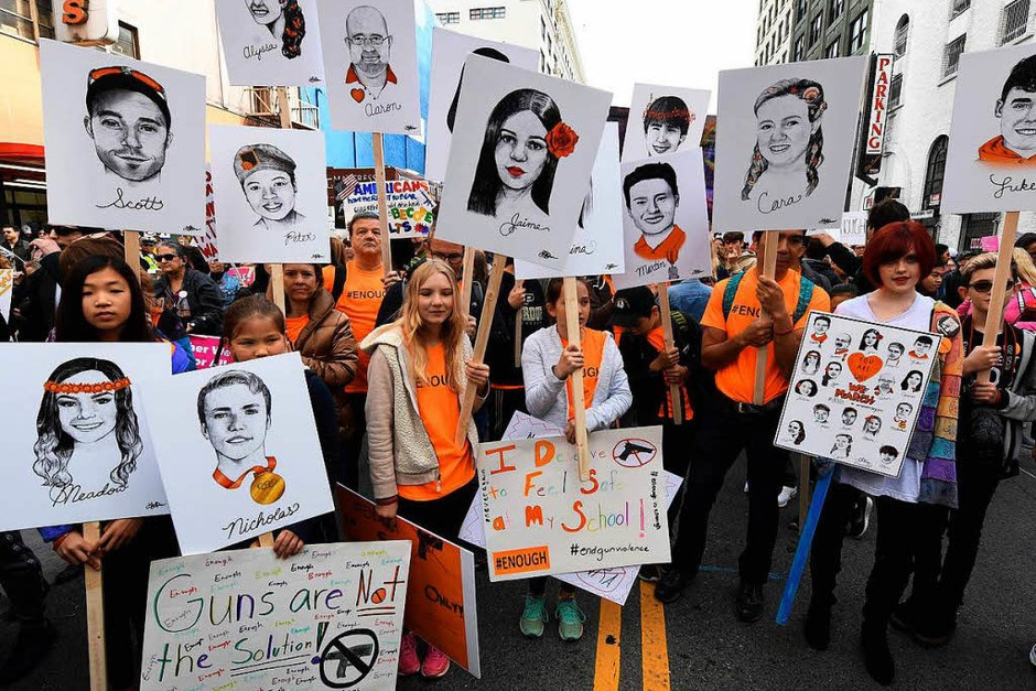 """""""March For Our Lives"""" – ein Marsch für unser Leben (Foto: AFP)"""
