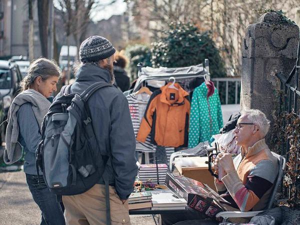 Der Straßenflohmarkt in der Wiehre