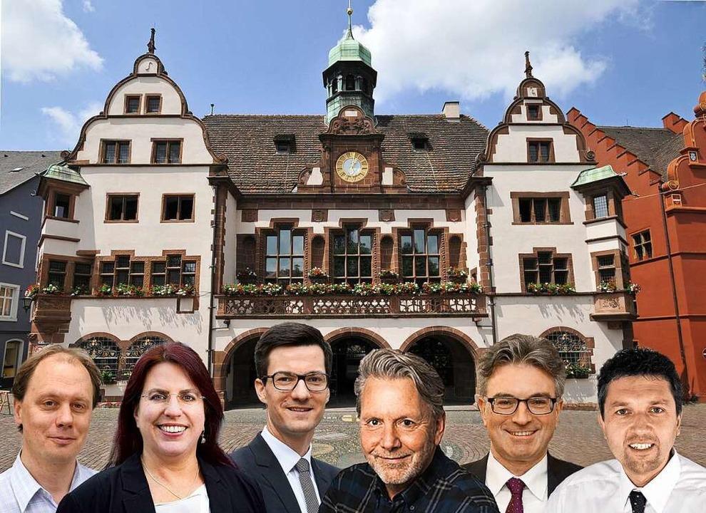 Sechs Kandidaten bewerben sich am 22. ..., Dieter Salomon und Anton Behringer.   | Foto: Ingo Schneider/BZ