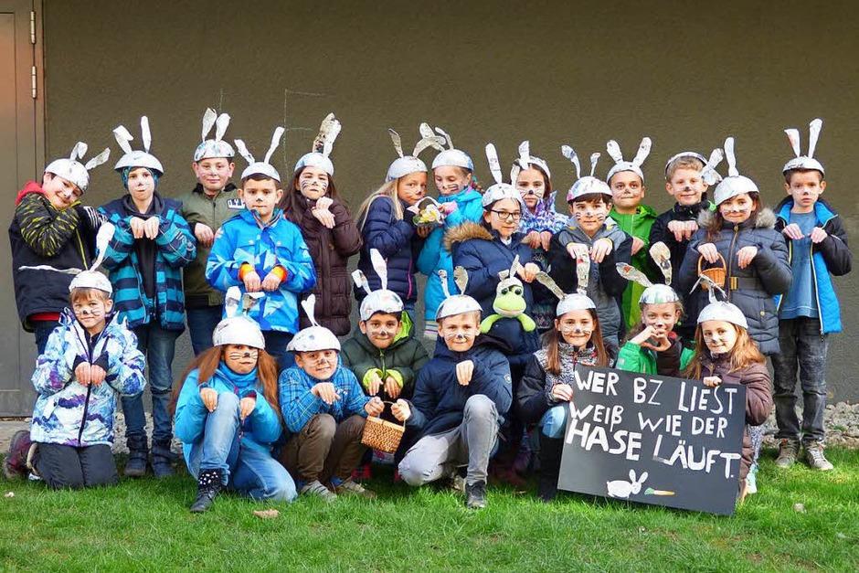 Platz 1, Ausgabe Freiburg / nördlicher und westlicher Breisgau: Klasse 4a, Tunibergschule, Freiburg (Foto: Corinna Gerhardt)