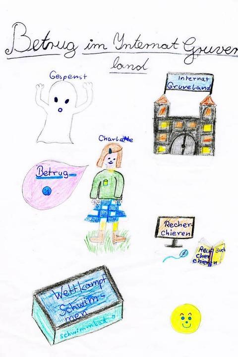 Marlenes hat eigene Illustrationen zu ... Schreibwettbewerbsbeitrag gezeichnet.  | Foto: Privat