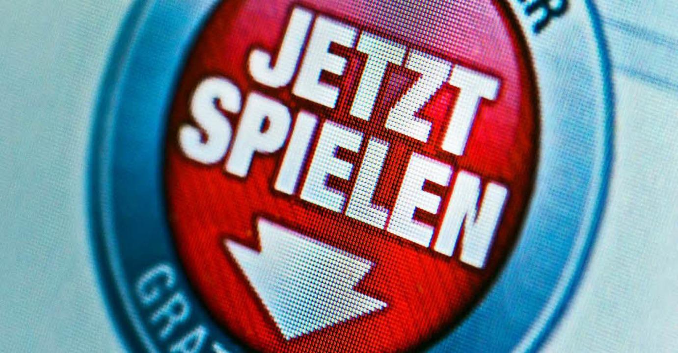 Wachsender Markt: Im Internet wird für ein Online-Glücksspiel geworben.    Foto: dpa