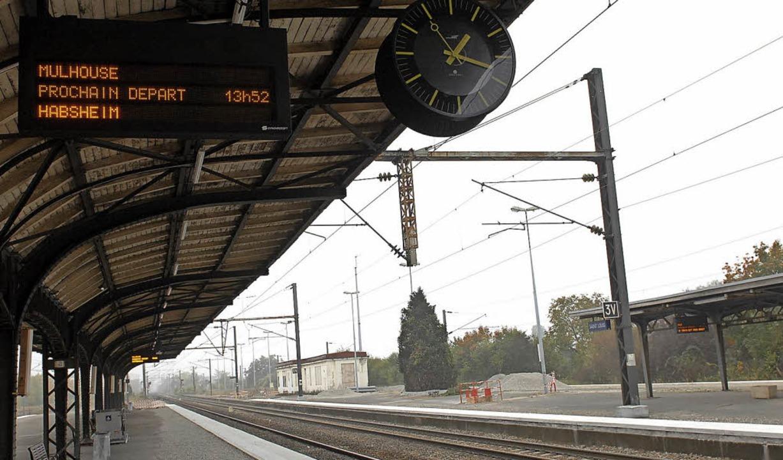 Leere: Der  Streik legte auch den Bahnhof Saint-Louis lahm.   | Foto: Guy Greder