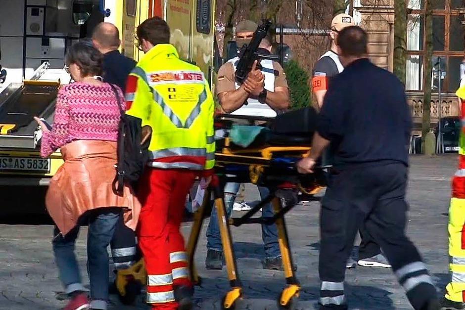 Die Innenstadt von Münster wurde am Samstag nach dem Zwischenfall abgesperrt. (Foto: dpa)