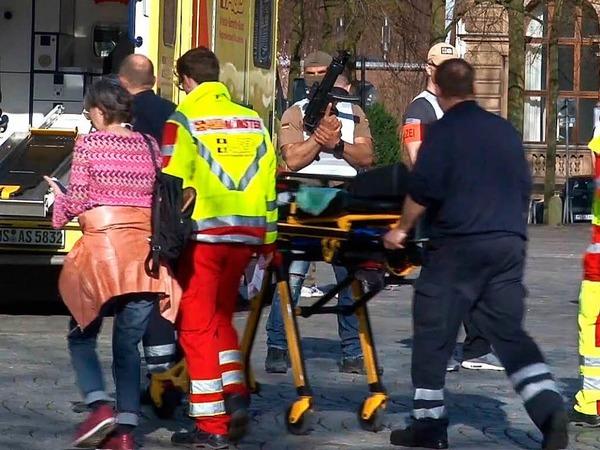 Die Innenstadt von Münster wurde am Samstag nach dem Zwischenfall abgesperrt.