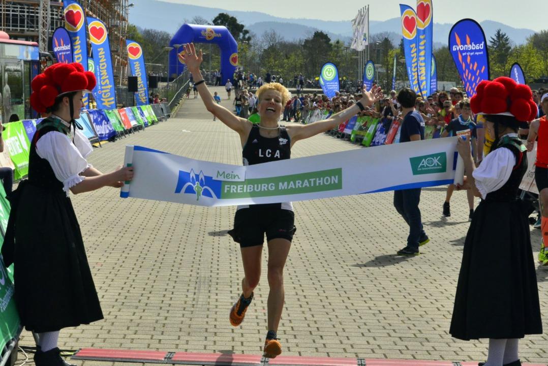 Marathon-Siegerin Marianne Okle  | Foto: Daniel Thoma