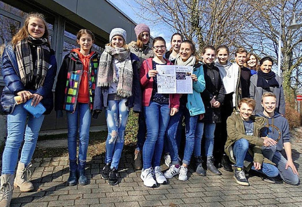 Die Presse-AG am Erasmus-Gymnasium in Denzlingen   | Foto: Privat