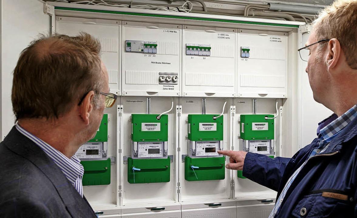 Eigentlich sollten Großverbraucher sch...ten Stromzählern ausgestattet werden.   | Foto:  Andreas Burmann (E3/DC/dpa)